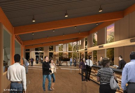 Rendering of Northern Sky Theater Lobby